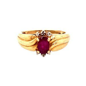 10k Ruby and Diamond Accent Ring